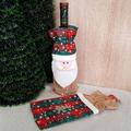 Коледна дреха за бутилка калъф декорация за маса-Дом и Градина