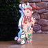 Светеща коледна фигура еленче от картон 19 см   Изкуство  - Добрич - image 0
