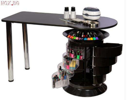Маса за маникюр Elit Plus- черна 125 х 50/55 х 73 см | Оборудване | Плевен