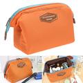 Малка козметична чантичка за гримове оранжева-Дамски Чанти