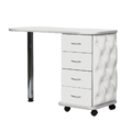 Маса за маникюр Style - бяла 105 x 42-50 x 75 см-Оборудване
