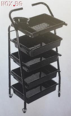 Фризьорска количка помощна 41 х 89 см   Оборудване   Хасково