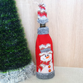 Коледна дреха за бутилка с шапка коледен калъф декорация за-Изкуство