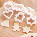 6 бр пластмасови резци форми за домашни сладки меденки бискв-Дом и Градина