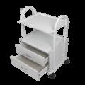 Количка за естетика - метална 2* - бяла 55 х 42,5 х 80,5 см-Оборудване