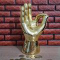 Голяма керамична касичка ръка OK златен цвят-Други