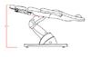Стол за педикюр Cubo (5 мотора) 190 х 57/82 х 62/112 см - тъ | Оборудване  - Бургас - image 4