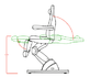 Стол за педикюр Cubo (5 мотора) 190 х 57/82 х 62/112 см - тъ | Оборудване  - Бургас - image 5