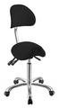 Табуретка с облегалка Noble 59/78 см - бяла/сива/черна-Оборудване