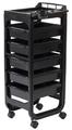 Фризьорска количка Soapi - черна 37 x 30 x 90 см-Оборудване