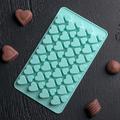 1439 Силиконова форма за шоколадови бонбони и лед-Дом и Градина