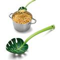 1469 Лъжица за спагети Зелено листо лъжица за салата сервира-Дом и Градина