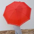 1538 Дамски автоматичен чадър за дъжд на точки с цветя двоен-Дом и Градина