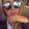 Ново! Сребристи огледални очила Диор модел 2017-Дамски Слънчеви Очила