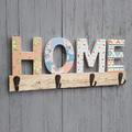 449 Дървена закачалка за стена HOME органайзер за ключове и-Дом и Градина