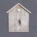 1838 Декоративна къщичка за ключове KEYS с декорация сърце-Дом и Градина