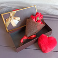 1994 Подаръчен комплект Ключодържател сърце с букет рози-Дом и Градина