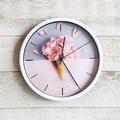 2038 Стенен кръгъл часовник Сладолед от цветя-Дом и Градина