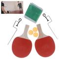 Комплект хилки за тенис на маса с мрежа стойка и 3 топчета-Играчки и Хоби