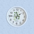 2040 Модерен кръгъл часовник с принт листа, 23см диаметър   Дом и Градина  - Добрич - image 0