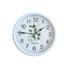 2040 Модерен кръгъл часовник с принт листа, 23см диаметър   Дом и Градина  - Добрич - image 1