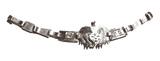 Ново! Сребърна гривна пума 950 проба, ръчна изработка,уникат-Гривни