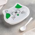 2247 Детска кутия за храна с 3 отделения и лъжичка Котенце-Дом и Градина