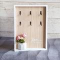 2249 Нежна кутия за ключове с декорация вазичка с цветя и на-Дом и Градина