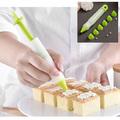 2246 Сладкарска писалка с накрайници за декориране и украса-Дом и Градина