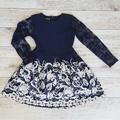 Официална детска рокля с дантелени ръкави-Детски Дрехи