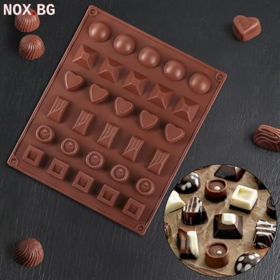 2408 Силиконова форма за шоколадови бонбони Бонбониера   Дом и Градина   Добрич