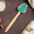 2421 Кухненска силиконова шпатула с дървена дръжка Елхичка-Дом и Градина