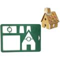 2459 Сладкарски шаблон резец за Коледна Джинджифилова къща-Дом и Градина