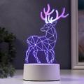 2451 Декоративна 3D LED лампа Северен елен коледна украса-Дом и Градина