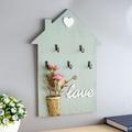 2450 Декоративна закачалка за ключове с декорация и надпис L-Дом и Градина