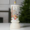 2484 Електронна коледна свещ с LED пламък Снежни човеци, 23с-Дом и Градина