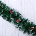 2488 Коледен гирлянд с декорация шишарки и плодове, 270см-Дом и Градина