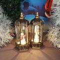 2500 Светещ коледен Led фенер с декорация Ангел и Снежко, 14-Дом и Градина