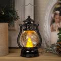 2496 Коледно преспапие фенер с реалистичен пламък, 12см-Дом и Градина