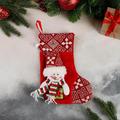 2513 Коледен чорап за подаръци и украса Весел Снежко-Дом и Градина